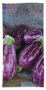 Eggplants Beach Towel