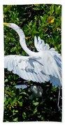 Egret 1 Beach Towel