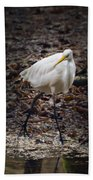 Egret Strut Beach Towel