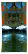 Egrets Nest In A Palace Beach Towel