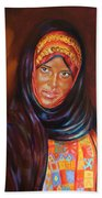Egyptian Nubian Girl Beach Towel