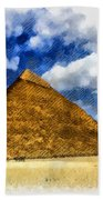 Egyptian Pyramid Beach Towel