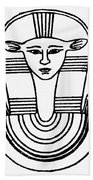 Egyptian Symbol Hathor Beach Towel