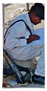 Egytian Security Relaxes Before The Spring Beach Towel