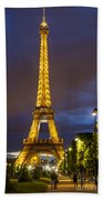 Eiffel Dusk Beach Towel