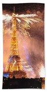 Eiffel Hat Beach Towel