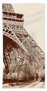 Eiffel In Sepia Beach Towel