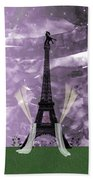Eiffel Tower - Paris - Love Beach Towel