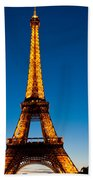 Eiffel Tower At Dusk Beach Towel