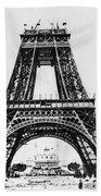Eiffel Tower Construction Beach Towel