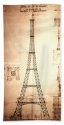 Eiffel Tower Design Beach Towel