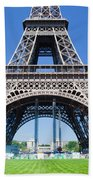 Eiffel Tower Lower Part Paris Beach Towel