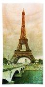 Eiffel Tower Mood Beach Towel