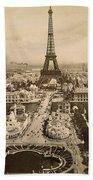 Eiffel Tower, Paris, 1900 Beach Towel