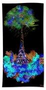 Eiffel Tower Topiary Beach Towel