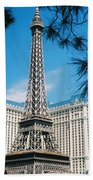 Eiffl Tower Vegas Beach Towel