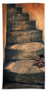 Eighteenth Century Shoes On Old Stairway Beach Towel