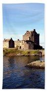 Eilean Donan Castle Kintail Scotland Beach Sheet