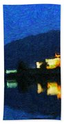 Eilean Donan At Night Beach Towel