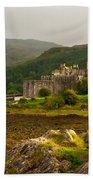 Eilean Donan Castle Scotland Beach Towel