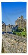 Eilean Donan Castle Walkway Beach Towel