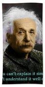 Einstein Explanation Beach Towel