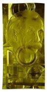Einstein In Crystal - Yellow Beach Towel