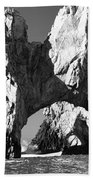 El Arco In Black And White Beach Towel