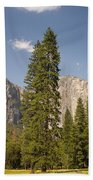 El Capitan And Yosemite Valley Beach Towel
