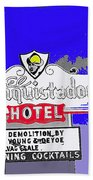 El Conquistador Hotel Demolition Sign 1968 Tucson Arizona 1968-2012 Beach Towel