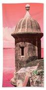 El Morro In The Pink Beach Towel