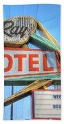 El Ray Motel Beach Towel