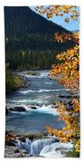 Elbow River View Beach Towel
