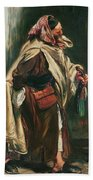Elderly Moroccan Jew, 1867 Oil On Canvas Beach Towel
