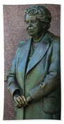 Eleanor Roosevelt Memorial Detail Beach Towel
