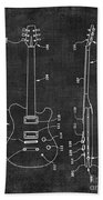 Electric Guitar Patent 039 Beach Towel