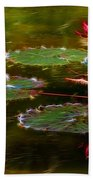 Electric Lily Pad Beach Towel
