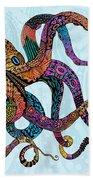 Electric Octopus Beach Towel by Tammy Wetzel
