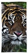 Electric Tiger Beach Towel