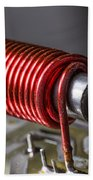 Electrical Coil With Iron Core Beach Towel