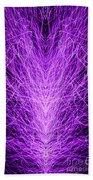 Electrostatic Purple Beach Towel