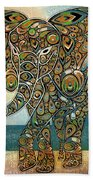 Elefantos - 01ac03at03b Beach Towel by Variance Collections