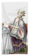 Elegant Lady At Her Dressing Table Beach Towel by Pierre Thomas Le Clerc
