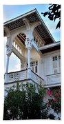 Elegant White House And Balcony Beach Towel