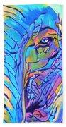 Elephant - Sky Blue Beach Towel