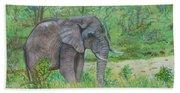 Elephant At Kruger Beach Towel
