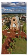 Elevated View Of Ave Maria Oratory Beach Towel