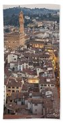 Elevated View Of Florence Beach Towel