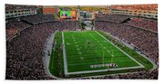 Elevated View Of Gillette Stadium, Home Beach Towel