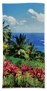 Elevated View Of Trees And Plants Beach Towel